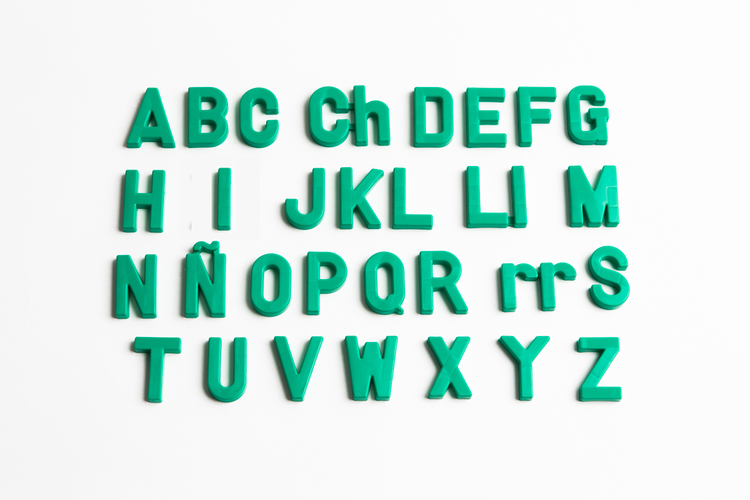 Magnetic Uppercase Spanish Letters