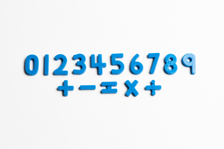"Blue Numbers (1 ¼"")"