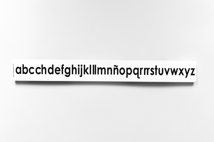 Lowercase Spanish Desk-size Alphabet Strip