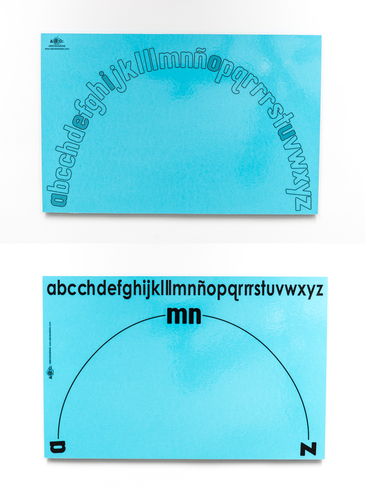 "Lowercase Spanish Alphabet Arc/Mat (11"" x 17"")"